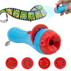 Kids Cartoon Flashlight Projector Toys Projector Slide Baby Sleeping Story Early Education Toy Child Sleep Light Lamp for Infant. Sleep Cartoon, Cartoon Kids, Kids Sleep, Baby Sleep, Child Sleep, Light Up, Lamp Light, Night Light, Funny Toys