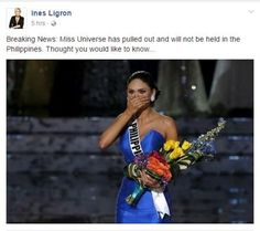 Miss Universe 2016 ongoing rumours
