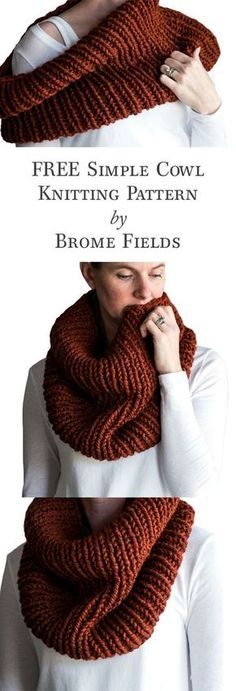 FREE Thick & Quick Cowl Knitting Pattern!