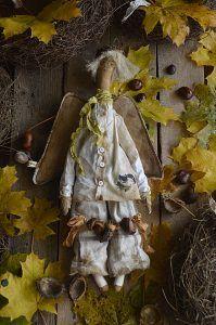 Tilda, anioł, jesień kasztany Blog, Painting, Art, Craft Art, Painting Art, Kunst, Blogging, Paint, Draw