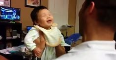 This Baby Laughed For The First Time. But Pay Attention To How His Dad Reacts… You Will LOVE This!