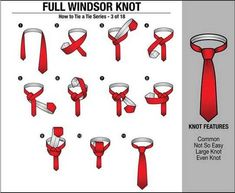 How to Tie a Double Windsor Neck-Tie? How to Tie a Full Windsor Necktie Knot Video Double Windsor Tie, Windsor Tie Knot, Half Windsor, Types Of Ties, Types Of Knots, Outfits Casual, Style Outfits, Casual Wear, Ties