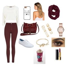 """""""Shopping day"""" by menna121 ❤ liked on Polyvore featuring Topshop, Keds, M&Co, Casetify, Lelet NY, Athleta, Forever 21, Marc by Marc Jacobs and Chanel"""