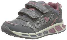 Geox J Shuttle Girl E, Zapatillas para Niñas, Grau (Grey/Dk ROSEC1322), 30  EU