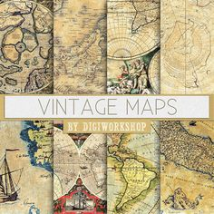 20 free printable antique maps easy to download antique maps vintage maps digital paper vintage world maps with antique maps of europe america and the world for scrapbooking invites cards gumiabroncs Images