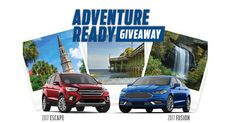 I just entered for a chance to win a new vehicle during the Ford Adventure Ready Giveaway!