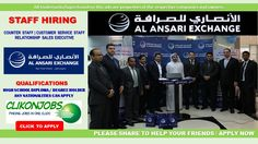 Al Ansari Exchange - Free Staff Recruitment  Attractive Salary   Free Visa   Accommodation   Flight Tickets Qualification: High School Diploma   Degree Holder   Bachelor's Degree All Nationality Can Apply Click Image to Apply