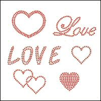 Free design templates for making up in rhinestones and rhinestuds