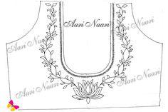 Hand Embroidery Design Patterns, Hand Work Embroidery, Embroidery Motifs, Paper Embroidery, Indian Embroidery Designs, Hand Work Design, Hand Work Blouse Design, Maggam Work Designs, Pencil Design