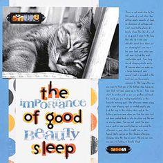 Cat Scrapbooking Ideas: Cat Nap Layout