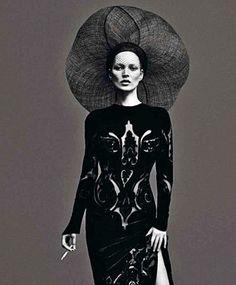 Fuck Yeah Fashion Couture   Le Noir Partie 3, Vogue Paris  Kate Moss and...