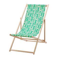 IKEA - MYSINGSÖ, Strandstol, grön, , Enkel att hålla ren eftersom tyget går att ta av och tvätta.