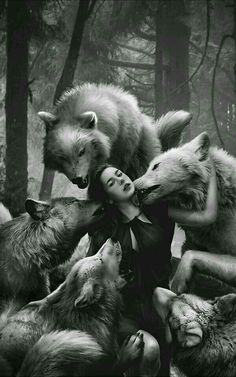 """They threw her to the wolves. But she became their Alpha."" -Unknown"