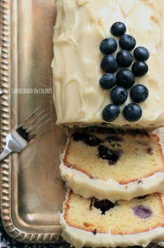 bizcocho-de-arandanos y queso crema                              …