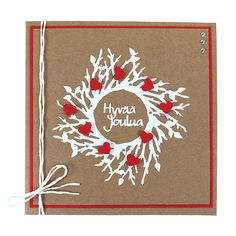 Her flytter snart en ny kunde ind Diy Christmas Cards, Christmas Love, Christmas Crafts, Christmas Postcards, Diy Cards, Diy Gifts, Gift Tags, Diy And Crafts, Wraps