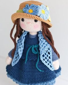 This is a finished handmade amigurumi crochet doll Bella wearing an elegant outfit. The hat and shawl can be taken off. The doll can sit and stand by herself. She was lovingly handmade with the following materials: - cotton, cotton acrylic yarn - hypoallergenic polyester fiberfill