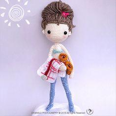 Crochet Doll Pattern Jill 洁儿 VK_ver_9924