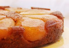 Upside Down Pear Cake.   One thing I love about this recipe is that you oven roast the pears first.  The pears are drizzled with orange juice and honey and then baked which infuses the fruit with the most heavenly sweet flavor and luscious texture.