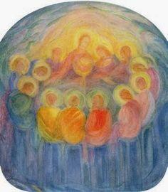 Rudolf Steiner, Bible Drawing, Painting & Drawing, Biblical Art, Angel Cards, Last Supper, Bible Art, Christian Art, Religious Art