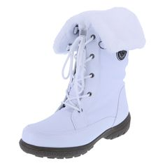 Women's Whiteout Cuff Down BootWomen's Whiteout Cuff Down Boot, White