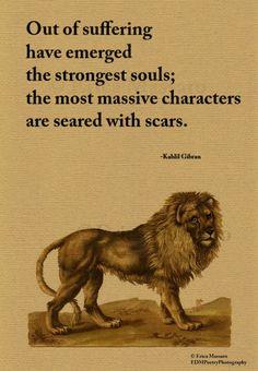 S | Kahlil Gibran Quote | Inspirational Quotes | Vintage Lion Art Illustration