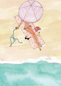 My little summer box illustration