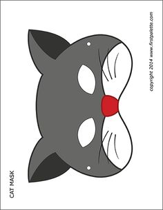 Free printable fox mask to color and craft into a wearable paper mask. Animal Mask Templates, Printable Animal Masks, Paper Face Mask, Owl Mask, Animal Face Mask, Puppet Patterns, Free Printables, Printable Templates, Cat Face