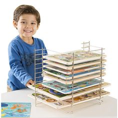 Solve the common puzzle of how to neatly organize and store wooden puzzles with this handy, versatile wire storage rack! Chunky puzzles,…