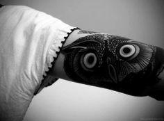Owl tattoo on the arm. #tattoo #tattoos #ink