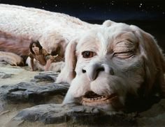 Noah Hathaway as Atreyu with his luck dragon, Falkor voiced by Alan Oppenheimer in #TheNeverEndingStory (1984).