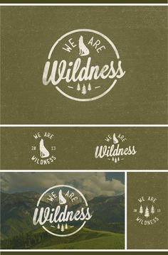 "Lovely olive green logo design. I think the distressed effect works really well with the ""wild"" theme!"