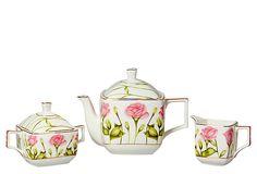 Rose Garden 3-Piece Coffee/Tea Set  CLASSIC COFFEE & TEA    $19.00