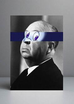 Artista substitui olhos de celebridades por olhos de desenhos animados