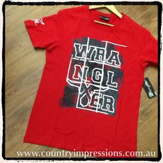 Mens Wrangler Tee. In store and online NOW . $45.95. #countryimpressions #wrangler #summer #love3280 #liebigstreet #greatoceanroad by countryimpressions