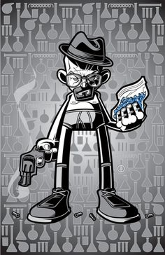 Illustration Heisenberg + Crystal