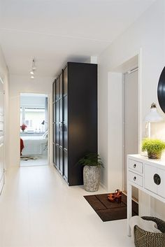 A nor-etnic style apartment? Ikea Pax Wardrobe, Entry Closet, Appartement Design, Interior Architecture, Interior Design, Light And Space, Dream Apartment, Scandinavian Interior, Home Decor Trends
