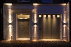Lighting design by John Cullen Lighting Entrance Lighting, Interior Lighting, Lighting Design, Lighting Ideas, Residential Lighting, Light Architecture, Entry Foyer, Light Decorations, Bedroom Stuff