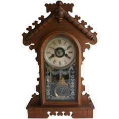 Jacot's Regulator Mantel Clock ($299) ❤ liked on Polyvore featuring home, home decor, clocks, wood clock, wood home decor, wood mantle clock, wooden home decor and wooden mantel clocks