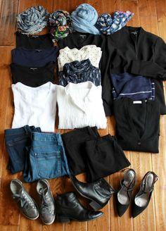 15 piece travel wardrobe 3 weeks one carryon