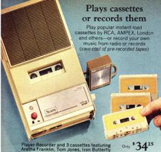 Oh, the songs I used to sing on this...I'd sing along with my transistor radio and tape it...