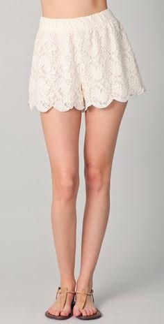 lace shorts!
