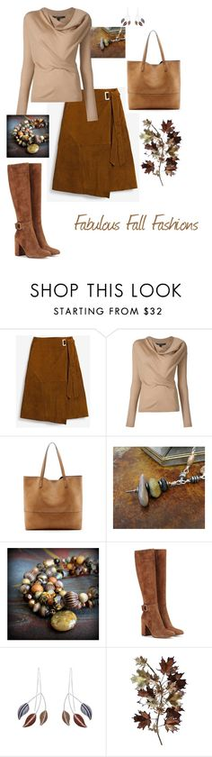 """Fabulous Fall Fashions"" by jillsjoyagol on Polyvore featuring White House Black Market, Sole Society, Gianvito Rossi, Caroline Royal and C. Jeré"