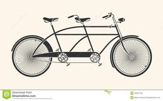 Free Vintage Clip Art Images Tandem Bicycle
