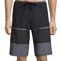 94ade453efc0e (eBay Sponsored) Skater Board Shorts Sz 34 Swim Trunks Black Gray Burnside  New