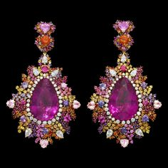 Dior Jewellery – Dear Dior: 'Guipure Framboise Rebrodée' earrings. Discover more on www.dior.com