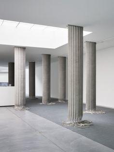 """okyeahfine: """" Christain Andersson - Column Shred, 2015 Variable height, 60 cm width each """""""