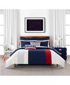 Bed Comforter Sets, Comforters, Blue Comforter, White Bedding, Tommy Hilfiger, Tommy Bahama, Bedroom Furniture, Bedroom Decor, Bedroom Ideas