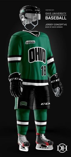 6f513db12 prOUd to unveil the first Ohio_Baseball/OHIO Bobcats Hockey crossover jersey  concept! Please note