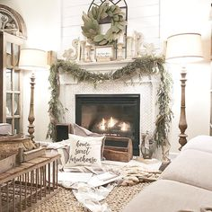 803 Likes, 99 Comments - Kayla Miller Cozy Living Rooms, Living Room Decor, Country Fireplace, Tv Fireplace, Fireplace Ideas, Fireplaces, Farmhouse Family Rooms, French Country Farmhouse, Farmhouse Ideas