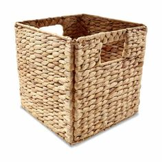 Natural Woven Folding Basket Square Storage Toys Laundry Drawer Organizer Bins in Home & Garden, Cleaning, Housekeeping, Home Organisation Storage Tubs, Small Bathroom Storage, Cupboard Storage, Toy Storage, Storage Baskets, Storage Units, Pantry Organisation, Home Organization Hacks, Bathroom Organisation